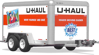 6X12 box trailer Uhaul